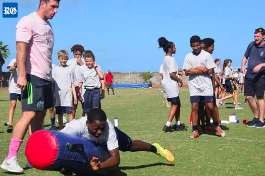Rugby Stars Inspire Youngsters